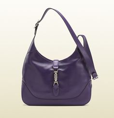 Jackie grape color leather shoulder bag