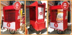 Mobile Stand, Takoyaki, Food Stall, Food Trucks, Kiosk, Popcorn Maker, Juice, Design, Decor