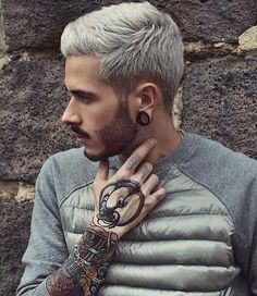 Hombres Hair Colors-12