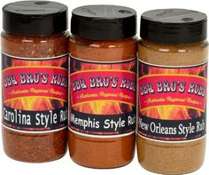 Authentic BBQ BROS RUBS {Southern Style} the Ultimate Barbecue Tailgating Set can be used for Grilling, Cooking, Smoking as a Meat & Rib Rub Backed with 100% Customer Guarantee, ,
