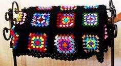 Crochet Afghan Classic Granny Square Multi by MrsFullersAttic