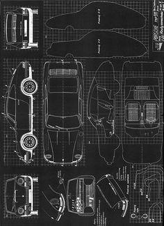 Frame this: 911 Blueprint, Ferdinand Alexander Porsche - tá aí. vou fazer um igual