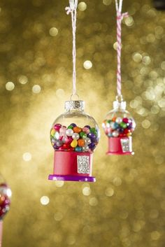DIY Christmas Ornament Craft Ideas for Kids from Family Fun- Petite Gumball Machines