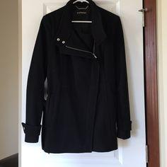 Express Black Pea Coat Express Black pea coat size L Express Jackets & Coats Pea Coats