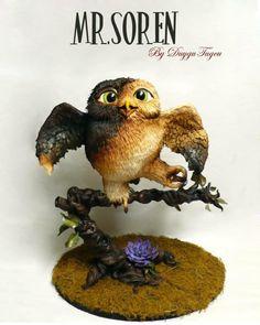 Owl Cake by Duygu Tugcu