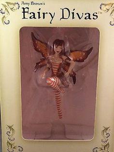Amy-Brown-Fairy-Diva-Ornament-Ginger-Figurine-2002-Retired-NIB