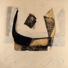 Nūn | Gouache & mixed media on canvas, 150 x 150 cm, 2008 | Medium: Painting | Ali Hassan, Origin: Qatar, Born in: Qatar | Barjeel Art Foundation