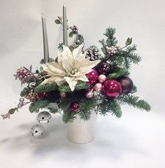 Christmas gifts: Posters and posters for all tastes! Christmas Flower Arrangements, Christmas Flowers, Christmas Gift Box, Rustic Christmas, Christmas Wreaths, Christmas Crafts, Christmas Candle Decorations, 242, Winter