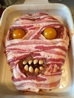 Halloween Meatloaf before cremation