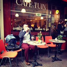Café De Tuin in Amsterdam, Noord-Holland | Lunch spot Coffee To Go, Holland, Amsterdam, Reading, Bubbles, The Nederlands, The Netherlands, Reading Books, Netherlands