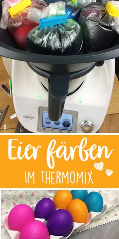 Color eggs in the Thermomix and cook at the same time. All in one step. - Dyeing eggs in the Thermomix works really well. You lay the eggs in the Varoma and boiled eggs come - Drink Tags, Desserts Ostern, Cute Desserts, Puppy Food, Easter Crafts For Kids, Engagement Ring Cuts, Hacks Diy, Easter Recipes, Boiled Eggs
