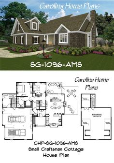 Small Craftsman Cottage House Plan Sg 1096 Ams With Bonus Room Above Garage