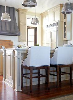 Urban Grace Interiors - kitchens - Sandy Chapman Sloane Street  Shop Light, zinc range hood, zinc kitchen hood, french range hood, french ki...