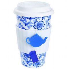 patterned porcelain tea cup from Mocha