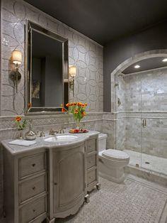 Glamorous Powder Bathroom