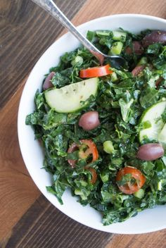 Kale Greek Salad ~ b