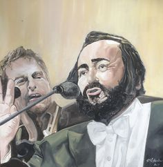 Pavarotti and friends - Painting by Grant Netherlands - contact Grant email: gnetherlands1@gmail.com Netherlands, Fine Art, Friends, Painting, Fictional Characters, The Nederlands, Amigos, The Netherlands, Painting Art