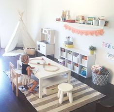 20 Fantastic Kids Playroom Design Ideas – My Life Spot Playroom Storage, Playroom Design, Playroom Decor, Kids Decor, Kid Playroom, Playroom Layout, Kids Storage, Toy Storage, Basement Storage