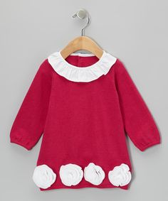 Take a look at this Fuchsia & White Rose Dress - Infant on zulily today!