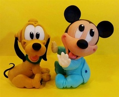 Baby Mickey Pluto Toppers by MARY TORTE