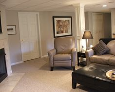 columns  Traditional Basement Small Basement Remodeling Ideas Design, Pictures, Remodel, Decor and Ideas - page 23