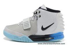 Gray Blue Men Shoes Nike Air Yeezy II Online