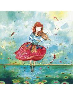 """Carte d'Art """"La Violoniste"""""""