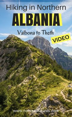 Don't miss this hike off your list when you travel to Albania. Just watch our video and you will see. Beautiful scenery and great big mountains. This is a one day hike in Northern Albania from Valbona to Theth. Definitely some of the most beautiful hiking Hiking Europe, Europe Travel Guide, Travel Guides, Travel Destinations, Albania Travel, Visit Albania, Travel Advice, Travel Plan, Hiking Tips