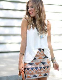 Mi aventura con la moda Falda joya étnica