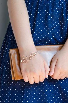 Personalisierte Armband LOVE, Wort auf dem Armband von IrenAdler auf DaWanda.com