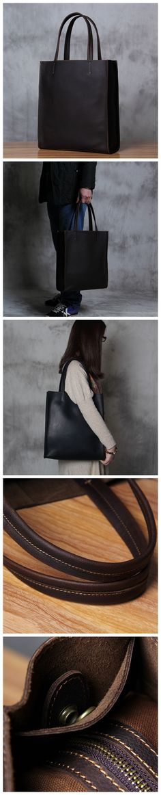 Handmade Leather Tote Bag, Shoulder Bags