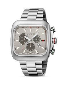 Gucci Coupe Collection Bracelet Watch with Silver Dial, 44mm