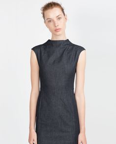 DENIM DRESS-View all-Dresses-WOMAN-SALE | ZARA United States
