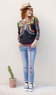 Everything from JM Dry Goods Black Embroidered Blouse