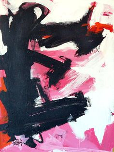 ETC INSPIRATION ART DESIGN FOOD PHOTOS PHOTOGRAPHY ABSTRACT ART PAINT BLACK PINK WHITE BY ROBBIE KEMPER