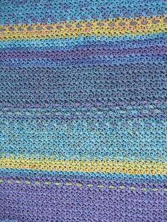 Hand dyed bamboo yarn crochet blanket
