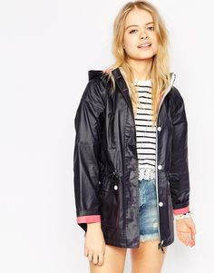 Shop ASOS Rain Mac in Bonded Cloth with Waxed Finish. With a variety of delivery, payment and return options available, shopping with ASOS is easy and secure. Shop with ASOS today. Asos, Festival Outfits, Festival Fashion, Rain Mac, Rainy Day Fashion, Style Minimaliste, Minimal Fashion, Minimal Style, Cool Style