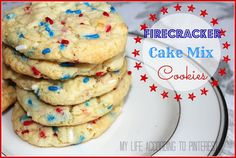 My Life According to Pinterest: Firecracker Cake Mix Cookies