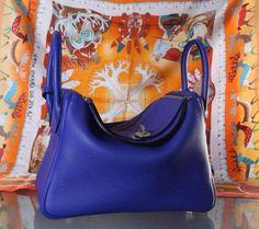Ms Fashion Junkie - Hermes Togo Original Import Leather Hand Stitched Lindy 30CM, Electric Blue, $980.00 (http://www.msfashionjunkie.com/hermes-togo-original-import-leather-hand-stitched-lindy-30cm-electric-blue/)