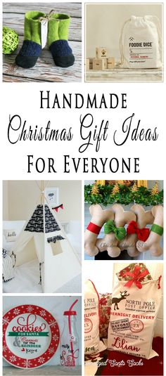 If you like the thought of giving handmade gifts to friends and family during the holiday season, then this collection of Handmade Christmas Gift Ideas is for you.