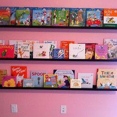 Bookshelves from Ikea