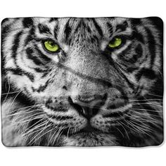 The Northwest Company American Heritage Silk Touch Tiger Eyes Pillow and Throw Blanket, 2 Piece, Green Soft Pillows, Decorative Pillows, Bed Pillows, Silk Touch, Saturated Color, Pillow Set, Tiger Eyes, Blanket, American