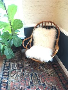 MCM Vintage Bamboo Swivel Chair
