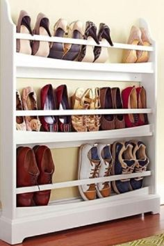 ideas clever shoe storage ideas diy crafts for 2019 Shoe Storage Small, Entryway Shoe Storage, Ikea Storage, Office Storage, Storage Hacks, Closet Storage, Bedroom Storage, Storage Shelves, Kitchen Storage