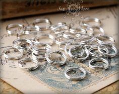 100 8mm Silver Plated Split Rings - 8SS. $2.50, via Etsy.