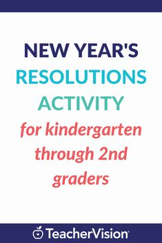 This activity introduces kids to New Year's resolutions. Students learn what a resolution is and why they should make one. Then, they make a resolution for themselves and draw a picture of it. New Year Pictures, Pictures To Draw, December Holidays, Year Resolutions, Kindergarten Activities, Teaching Tips, Student Learning, Creative Writing, Students