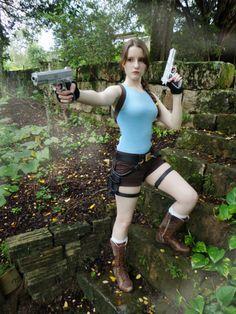 Lara Croft - Stairs by RiseOfTheTRaider.deviantart.com on @DeviantArt  - More at https://pinterest.com/supergirlsart/ #adventure #cosplay #cosplayer #laracroft #nature #pistols #thelostvalley #tombraideranniversary