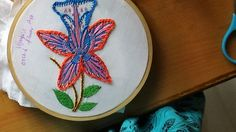 Hand Embroidery Designs # 186 - Orchid flower designs