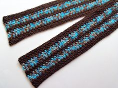 Icy Path Linen Stitch Scarf by BeyondCrochet on Etsy