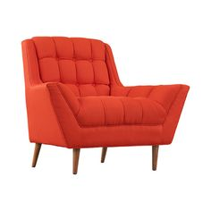 Everything's more exciting when you're seated in this stunning accent chair. Inspired by mid-century silhouettes, this Scotia Fabric Armchair features a decidedly mid-century silhouette and subtly tape...  Find the Scotia Fabric Armchair, as seen in the All Signs Point to Mid-Century Collection at http://dotandbo.com/collections/all-signs-point-to-mcm?utm_source=pinterest&utm_medium=organic&db_sku=117541